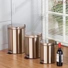 【YPRA】不銹鋼垃圾桶腳踏歐式家用廚房客廳大號