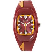 Speedo 狂熱天堂休閒腕錶-紅