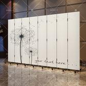 3扇 歐式白色屏風隔斷玄關行動實木摺屏臥室客廳防水布藝屏風簡約現代ATF格蘭小舖