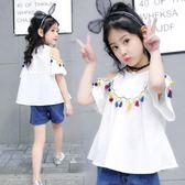 女童短袖t恤兒童夏裝小學生上衣童裝夏季12歲 嚴選柜惠八八折