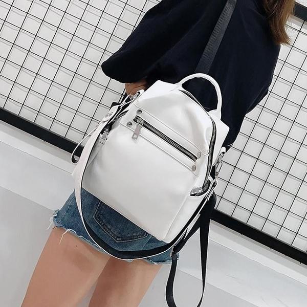 皮質後背包ins超火後背包女小包2021新款夏季軟皮質時尚簡約百搭逛街小背包 雲朵