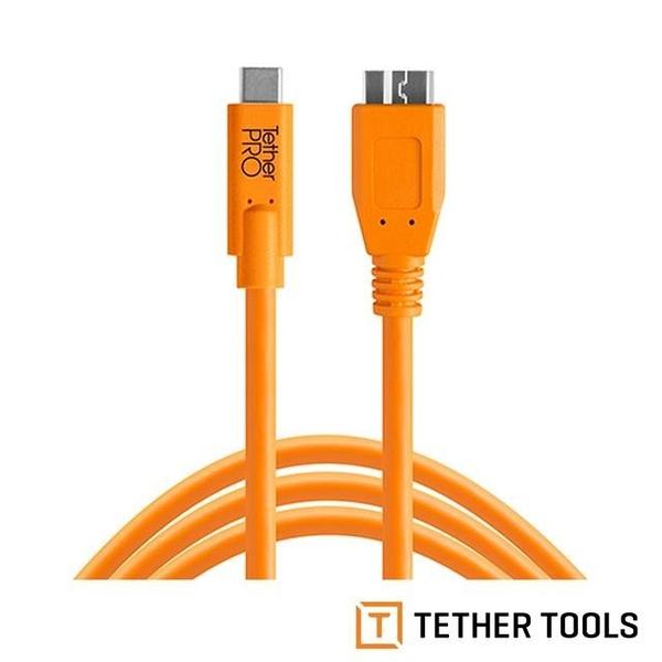 【南紡購物中心】Tether Tools CUC3315-ORG Pro 傳輸線USB-C to 3.0 Micro B