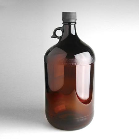 《台製》茶色玻璃細口瓶 附提把 Bottle, Round Jug, with Handle, Amber