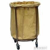 圓形布草車客房車酒店服務車手推車回收車垃圾車垃圾桶推車清潔車YTL