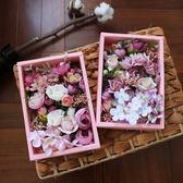 韓式新娘森系粉色仿真花朵頭花仙子超仙結婚頭飾婚紗攝影道具花環【全館滿千折百】