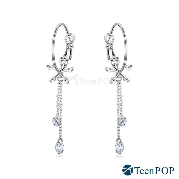 雪花耳環 ATeenPOP 正白K 雪花飛揚 耳針式 聖誕耳環 交換禮物 兩款任選