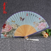 折扇 王星記扇子折扇中國風女夏季折疊扇舞蹈扇漢服隨身古風絹扇禮品扇 小衣里