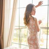 性感情趣內衣騷透視裝小胸旗袍制服誘惑三點式血滴子激情套裝用品【博雅生活館】