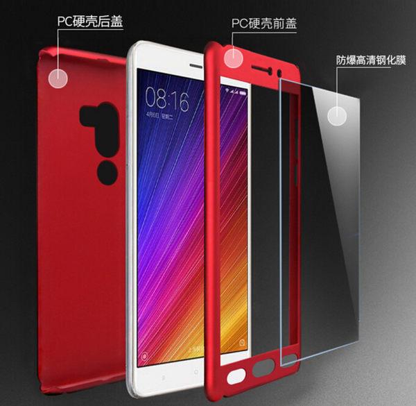 Xiaomi 小米手機 5s Plus 360度全包保護套 PC硬殼 前+後二合一組合款 三防完美包覆 手機套 手機殼