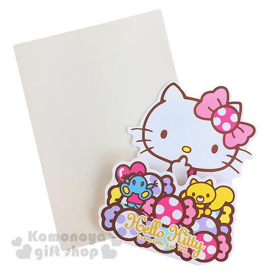 〔小禮堂〕Hello Kitty 造型萬用卡片《迷你.糖果.摸臉》附信封 4714581-18247