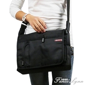 大容量牛津布單肩包男包側背包商務黑色多功能男士包包快遞背包 范思蓮恩