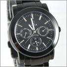 【萬年鐘錶】SIGMA 全黑三眼時尚腕錶 8807M-B
