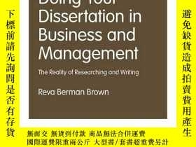 二手書博民逛書店Doing罕見Your Dissertation In Business And ManagementY256