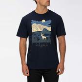Hurley M PENDLETON CRATER LAKE SS OBSIDIAN T恤-(男)