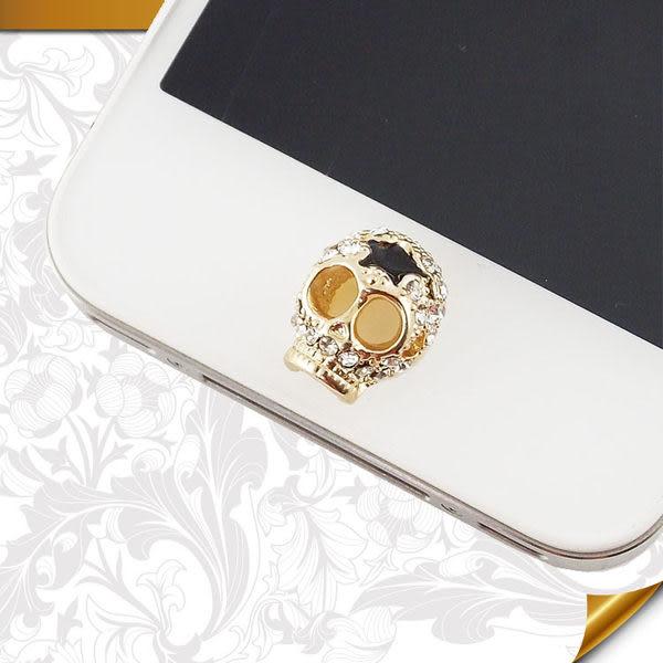 Miravivi iPhone/ iPad/ iPod 水鑽立體系列home鍵貼-骷顱