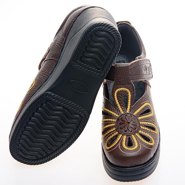 *流行經典/電繡款/MODO-THE ONE 休閒氣墊鞋 (全牛皮)-B50409  咖啡