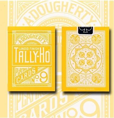 TALLY-HO YELLOW ROSE 反黃扇背 撲克牌