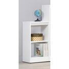 【森可家居】簡約白色耐磨二格櫃 8SB242-3 開放矮書櫃 收納 北歐風 MIT台灣製造
