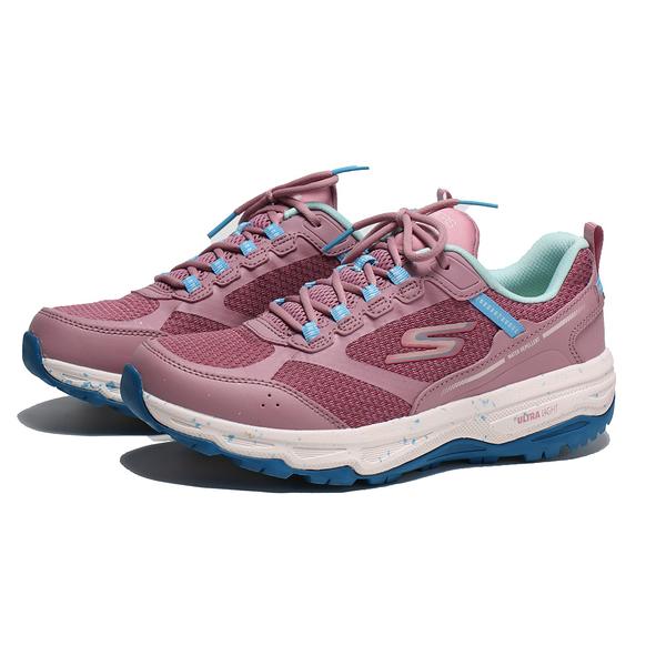 SKECHERS 慢跑鞋 GO RUN TRAIL TRAIL ALTITUDE 粉 藍 防潑水 越野 女 (布魯克林) 128205MVBL