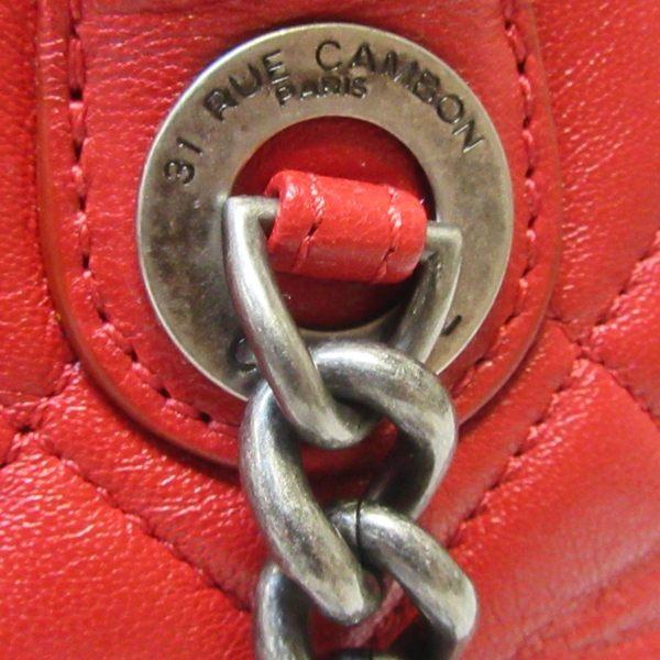 CHANEL 香奈兒 紅色羊皮復古銀鍊手提包肩背包 兩用包2way Bag 【二手名牌BRAND OFF】