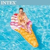 【INTEX】冰淇淋浮排224x107cm(58762)