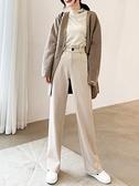 寬褲 闊腿褲 毛呢闊腿褲女 西裝直筒 秋冬季垂感高腰顯瘦百搭加厚寬鬆拖地長褲
