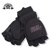 丹大戶外用品【SnowTravel】防風半指兩用手套/露指手套/防滑耐磨/機車手套 型號AR-48 黑