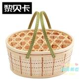 竹籃 葡萄采摘竹籃子禮品盒包裝土雞蛋竹筐竹編織長方形水果籃土特產框