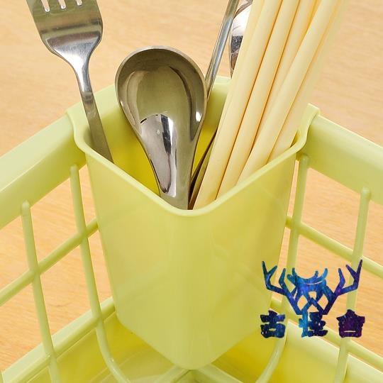 收納架碗筷收納盒廚房放碗架瀝水架置物架塑料【古怪舍】