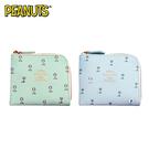 【日本正版】史努比 L型 皮夾 零錢包 卡片包 FARON Snoopy PEANUTS 422052 422823