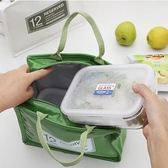 便當包漆皮PU野餐包鋁箔保溫袋保冷包手提袋【步行者戶外生活館】