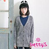 betty's貝蒂思 簍空針織罩衫(灰色)