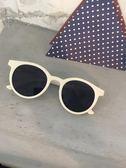 韓國2019新款太陽眼鏡女潮網紅同款偏光復古圓形白色墨鏡大框圓臉 滿天星
