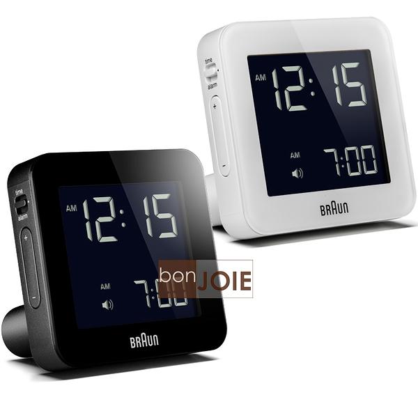 ::bonJOIE:: 美國進口 Braun BNC009 Alarm Clock 百靈數位鬧鐘 (黑色款 白色款)(全新盒裝) 博朗 時鐘 德國
