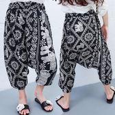 女童褲子哈倫褲寬鬆薄款兒童防蚊褲女成人泰國大象飛鼠褲親子  时尚潮流