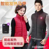 智慧恒溫電熱背心充電加熱馬甲男女款秋冬裝USB保暖全身發熱衣服 MKS免運