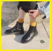 店長推薦 2018圓頭馬丁靴短靴女春秋季厚底短筒單靴平底切爾西靴機車靴子潮