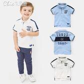 男童POLP短袖T恤裝韓版童裝兒童寶寶打底衫上衣「Chic七色堇」