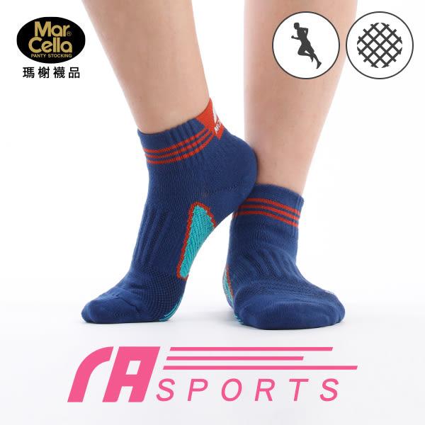 瑪榭 RUN (女)足弓防護機能運動襪- 條紋
