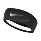 Nike 頭帶 Fury Headband 2.0 黑 金 男女款 髮帶 透氣 運動休閒 【PUMP306】 N100049207-5OS