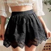 襯褲精品短褲女夏可外穿防走光安全褲高腰寬鬆大碼重工蕾絲打底褲百搭 快速出貨