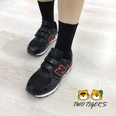 New Balance X Disney 米妮 聯名款復古鞋 黑色 魔鬼氈 中大童 NO.R2583