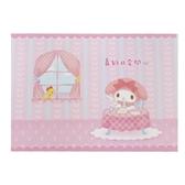 小禮堂 美樂蒂 橫式生日卡片 祝賀卡 送禮卡 節慶卡 (粉 窗戶) 4711717-23899