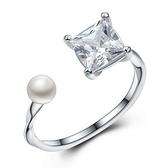 925純銀戒指 鑲鑽-簡單氣質生日情人節禮物女配件73an84[巴黎精品]