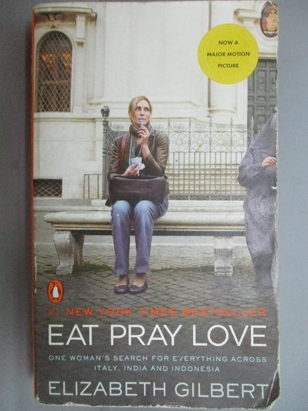 【書寶二手書T6/一般小說_LHC】Eat Pray Love_Elizabeth Gilbert