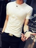 短袖男T恤韓版社會潮夏裝體桖修身半袖2020夏季潮流純棉潮牌體恤 黛尼時尚精品