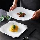 西餐盤 創意牛排盤子純白西餐盤方盤家用陶瓷平盤點心碟酒店西式餐具淺盤【快速出貨八折下殺】