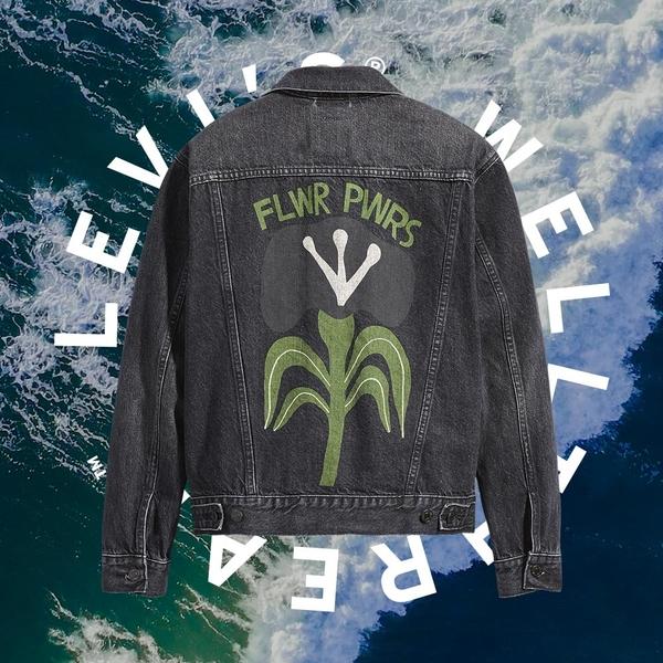 Levis Wellthread環境友善系列 女款 牛仔外套/創新棉化寒麻纖維/自然花草印花
