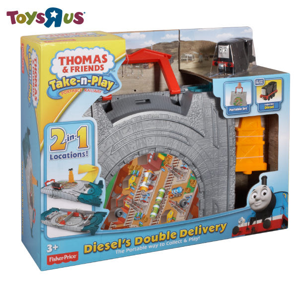 玩具反斗城 湯瑪士帶著走-二合一迪索運輸組 #