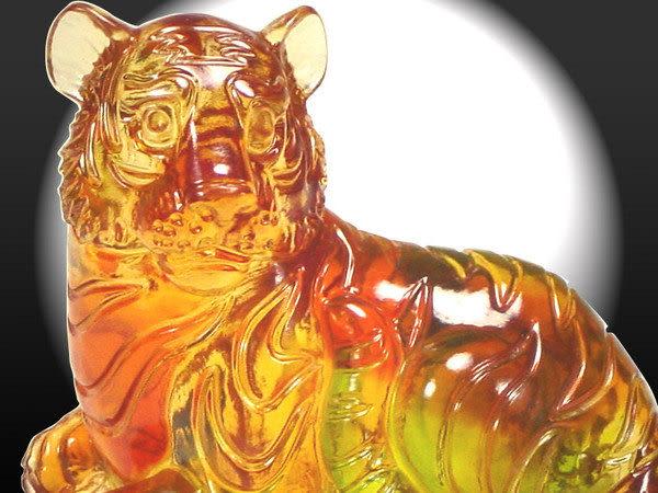 鹿港窯-居家開運商品-琉璃S十二生肖文鎮【虎】附精美包裝◆免運費送到家